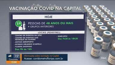 Confira o andamento da vacinação contra a Covid na sexta na Grande Florianópolis - Confira o andamento da vacinação contra a Covid na sexta na Grande Florianópolis