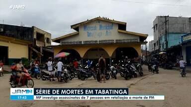 Ministério Público investiga morte de 7 pessoas em retaliação a assassinato de PM - Após o assassinato do policial militar em Tabatinga, foram registradas diversas mortes. As investigações correm sob sigilo.