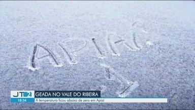 Temperatura ficou abaixo de zero em Apiaí, no Vale do Ribeira - Meteorologista Eduardo Nardini Gomes fala sobre baixas temperaturas na região.
