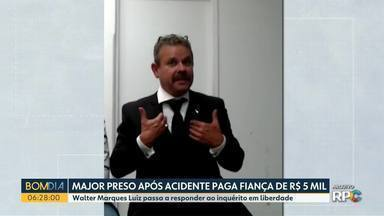 Major preso após acidente paga fiança e é solto - Walter Marques Luiz passa a responder ao inquérito em liberdade.