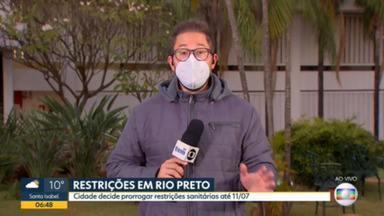 São José do Rio Preto prorroga restrições pra tentar evitar aumento de casos de covid-19 - Medidas seguem até dia 11 de julho.