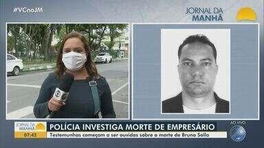 Polícia segue com investigações do assassinato do empresário em Porto Seguro - Testemunhas começam a ser ouvidas sobre a morte de Bruno Solla.