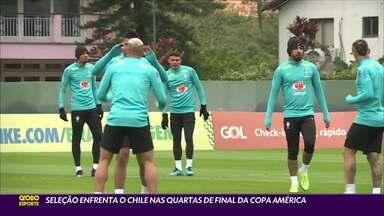 Seleção enfrenta o Chile nas quartas de final da Copa América - Seleção enfrenta o Chile nas quartas de final da Copa América