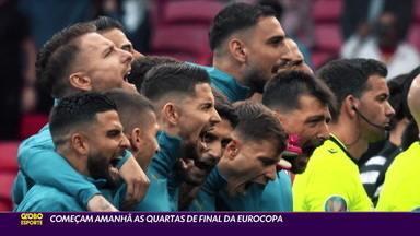 Nesta sexta-feira, começam as quartas de final da Eurocopa - Nesta sexta-feira, começam as quartas de final da Eurocopa