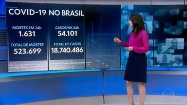 Média móvel de mortes por Covid volta a subir no Brasil depois de 13 dias - Dados deste sábado (3) também mostram que a média móvel de casos de coronavírus no país apresentou a queda mais intensa desde 13 de setembro do ano passado.