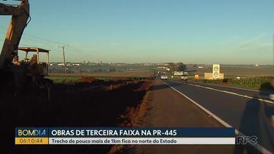 Governo e MPF pedem redução de tarifa de pedágio no norte do estado - Obras para a construção de terceira faixa na PR-445 começaram