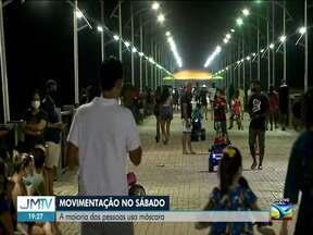 Veja a movimentação de pessoas em ponto turístico de São Luís - O repórter Olavo Sampaio tem outras informações.