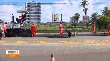 Governo de SE autoriza serviços de reestruturação da rodovia Inácio Barbosa em Aracaju - Governo de SE autoriza serviços de reestruturação da rodovia Inácio Barbosa em Aracaju