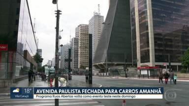 Paulista volta a ser aberta para pedestres neste domingo - Trânsito vai ser interditado das 8h às 12h