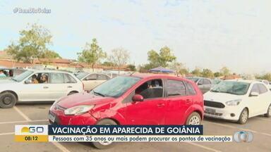 Aparecida de Goiânia vacina 5 mil pessoas contra a Covid-19 no fim de semana - Veja como fica a vacinação nesta semana.