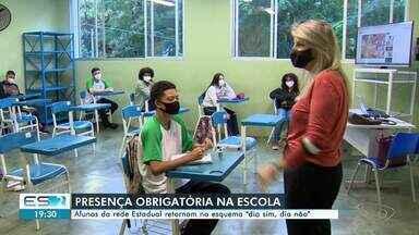 Alunos de escolas da rede estadual de ensino terão presença obrigatória, no ES - Assista.