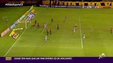 Cheio de opções, Ceará tem mais que um time inteiro de atacantes - Cheio de opções, Ceará tem mais que um time inteiro de atacantes