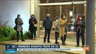 Florianópolis tem primeiro evento-teste na pandemia - Florianópolis tem primeiro evento-teste na pandemia