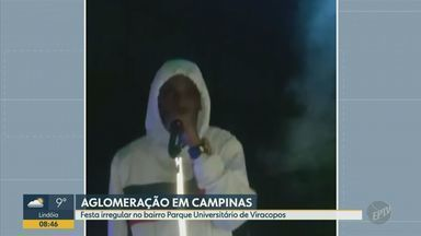 Festa clandestina tem aglomeração de pessoas em Campinas - Quem gravou as imagens alegou ter chamado a Guarda Municipal, mas ninguém apareceu.