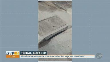 Após queixas, Hortolândia elimina buraco em rua no Jardim São Jorge, em Hortolândia - Buraco ficava na Rua Acre e foi alvo de reclamações dos moradores.