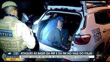 Homem é preso suspeito de cometer atentados contra bases policiais em Santa Catarina - Homem é preso suspeito de cometer atentados contra bases policiais em Santa Catarina