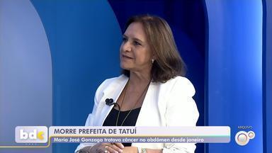 Prefeita de Tatuí morre de câncer aos 75 anos - A prefeita de Tatuí (SP), Maria José Gonzaga, de 75 anos, morreu na noite de domingo (8). Ela estava internada desde o dia 29 de julho, no Hospital Albert Einstein, na capital, onde tratava um câncer.