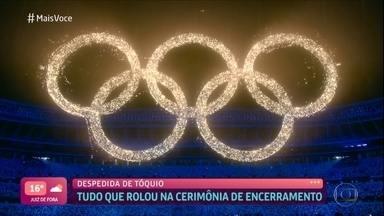 Show de luzes ilumina cerimônia de encerramento dos Jogos - Confira também os melhores momentos das últimas disputas dos brasileiros em Tóquio