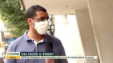 Em Valadares, UFJF oferece cursinho gratuito preparatório para o Enem - Saiba como participar.