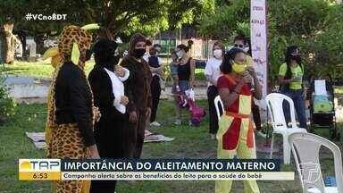 Campanha destaca sobre importância do aleitamento materno para a saúde do bebê - Ações estão sendo desenvolvidas em Santarém.