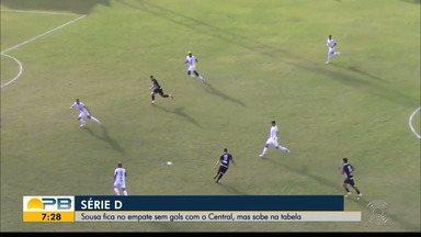 Central 0 x 0 Sousa, pela rodada #10 da Série D - Pernambucanos e paraibanos ficam no empate sem gols no Lacerdão