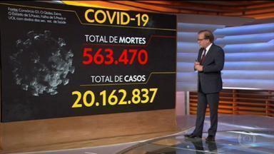 Brasil registra 543.470 vidas perdidas na pandemia - Já são mais de 20 milhões de casos confirmados da Covid-19.