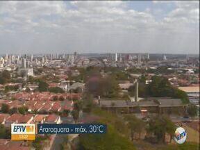Confira a previsão do tempo para Araraquara e região nesta segunda-feira - Termômetros devem subir devido a massa de ar seco que atua na região.