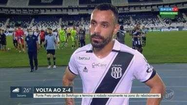 Ponte Preta perde do Botafogo e vai para zona de rebaixamento na Série B do Brasileiro - Placar final ficou 2 a 0.