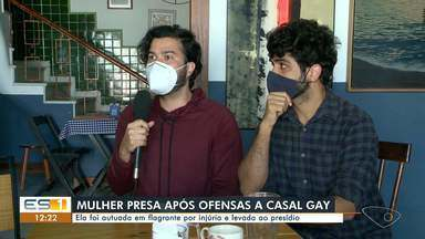 Idosa é presa após fazer insultos homofóbicos contra donos de restaurante em Vitória - Assista.