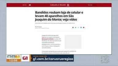 Destaques do G1: Homem é morto a tiros após tentar assaltar policial em Caruaru - Caso aconteceu na Avenida Leão Dourado, na noite do sábado (7).