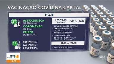 Confira a programação da vacinação contra a Covid na Grande Florianópolis - Confira a programação da vacinação contra a Covid na Grande Florianópolis