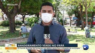 Em Santarém, Comitê de Crises de Enfrentamento à Covid-19 define situação no município - Estado está em bandeiramento verde, com baixo risco de contágio da doença.