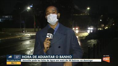 Joinville pode ter falta de água em mais de 30 bairros no domingo - Joinville pode ter falta de água em mais de 30 bairros no domingo
