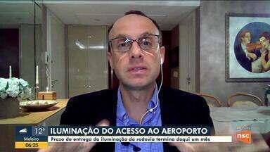 Renato Igor fala sobre iluminação do acesso ao aeroporto de Florianópolis - Renato Igor fala sobre iluminação do acesso ao aeroporto de Florianópolis