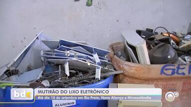 Cidades da região fazem mutirão para descarte correto de lixo eletrônico - São José do Rio Preto, Nova Aliança e Mirassolândia (SP) estão realizando um mutirão para coleta e destinação correta de lixo eletrônico.