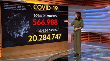 Brasil se aproxima de 567 mil vidas perdidas na pandemia - O total de casos está em quase 20.3 milhões.