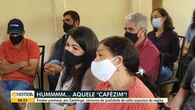 Emater promove concurso de qualidade de cafés especiais na região de Caratinga - Confira.