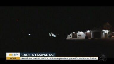 Deficiência na iluminação pública eleva roubos e furtos em casas na Zona Sul de Macapá - Moradores dos bairros Santa Rita e Buritizal reclamam da escuridão em vias movimentadas.