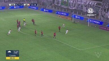 Santos vence o Libertad nos acréscimos e com um jogador a menos - Partida aconteceu pela Copa Sul-Americana.