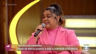 Preta Gil foi surpreendida por música composta pelo filho Francisco - Filho da cantora o ajudou a superar as tristezas durante a pandemia