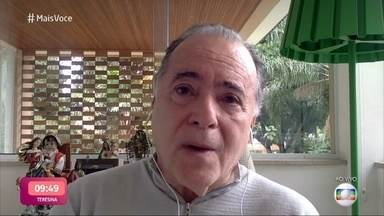 Emocionado, Tony Ramos relembra amizade com Tarcísio Meira - Ator também lamenta a perda do ator Paulo José, com quem já trabalhou. Tony conta que é muito amigo da família de Tarcísio e diz que momento é de redobrar atenções com Glória Menezes