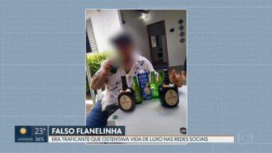 Preso traficante que se passava por flanelinha no Setor Comercial Sul - Nas redes sociais, o homem, de 40 anos, postava fotos de maços de dinheiro, carros de luxo e de festas regadas a muita bebida.