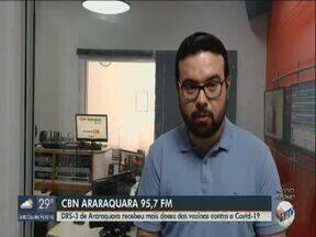 DRS-3 de Araraquara recebe mais doses das vacinas contra a Covid-19 - Rafael de Paula, da CBN Araraquara, traz mais informações.