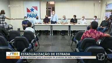 Reunião realizada em Santarém trata sobre estadualização de estrada na região - Via alternativa deve ajudar a escoar produtos.