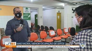 Vale do Ribeira tem queda na taxa de ocupação dos leitos de UTI e enfermaria de Covid-19 - Vacinação tem colaborado com a redução dos casos de internações.