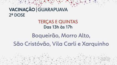 Guarapuava aplicará segundas doses em postos de saúde - Além da central de vacinação, cinco unidades terão doses da vacina contra a Covid-19 no período à tarde.
