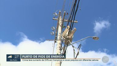 Polícia Civil registra 290 furtos de fiação elétrica entre janeiro e julho em Campinas - Balanço também mostra aumento de 24% na prática do crime entre 2019 e 2020.