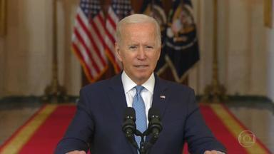 Biden defende de forma incisiva retirada de todos os militares do Afeganistão - 'Eu não ia estender essa guerra sem fim', disse o presidente dos Estados Unidos.