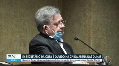 Ex-secretário da Copa, Demétrio Torres é ouvido na CPI da Arena - Ex-secretário da Copa, Demétrio Torres é ouvido na CPI da Arena