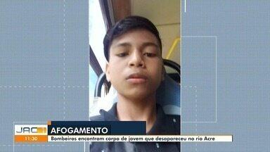 Corpo de adolescente de 15 anos que se afogou no Rio Acre há dois dias é achado na capital - Corpo de adolescente de 15 anos que se afogou no Rio Acre há dois dias é achado na capital